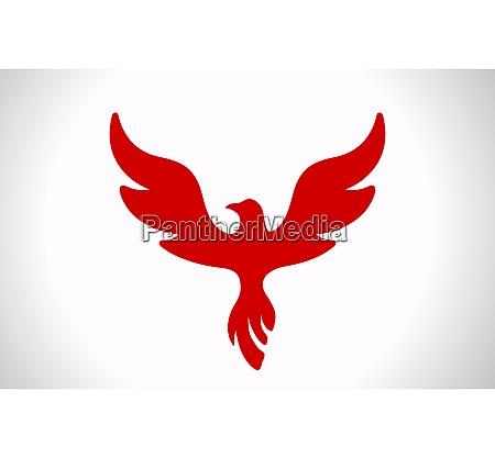 flying bird abstrakte logo vorlage luxus