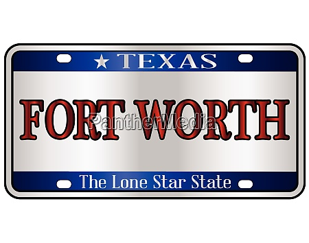 fort worth texas license plate