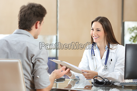 doctor attending a patient in a