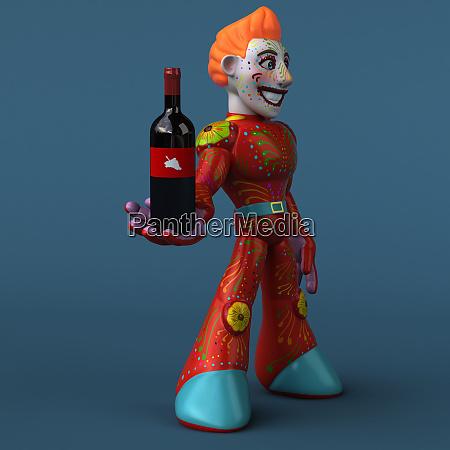 roter, roboter-3d-illustration - 26582734