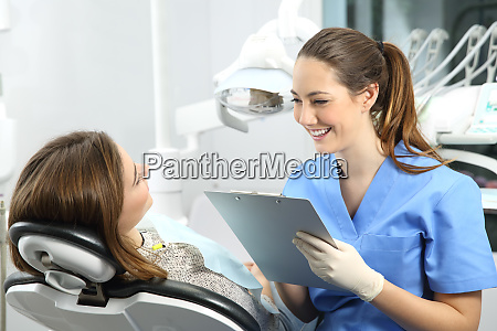 dentist with medical history asking to
