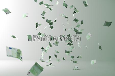 geldregen flying money flugrechnungen im zimmer