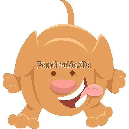 happy puppy cartoon animal character