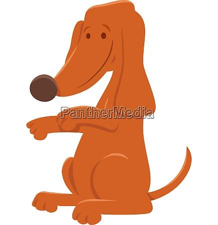 cute brown dog cartoon animal character