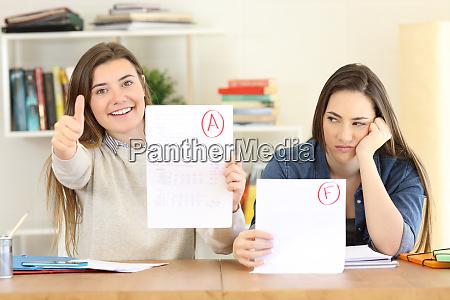 studierende mit fehlgeschlagenen und genehmigten pruefungen