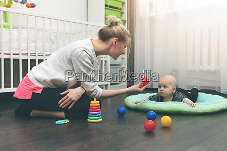 babysitting nanny playing with little
