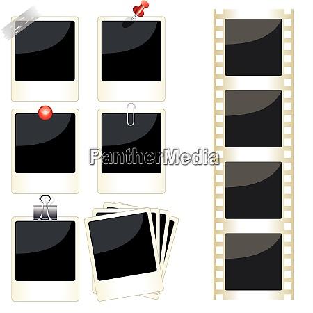 vektor instant bilderrahmen set