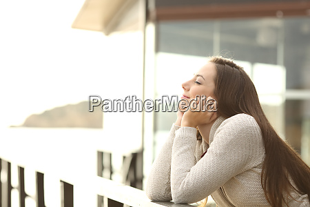 happy relaxed woman in a beach