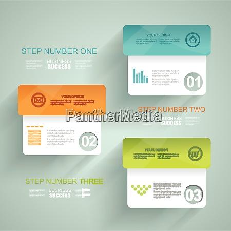 modern minimalistic infographics banner vector illustration