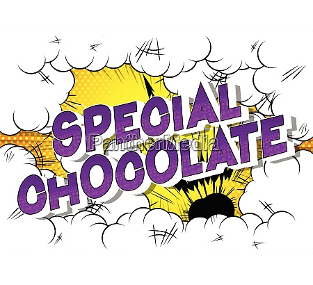 special chocolate comic book style