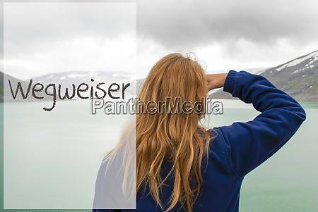 frau in norwegen deutscher text wegweiser