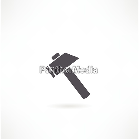 hammer silhouette on a white background