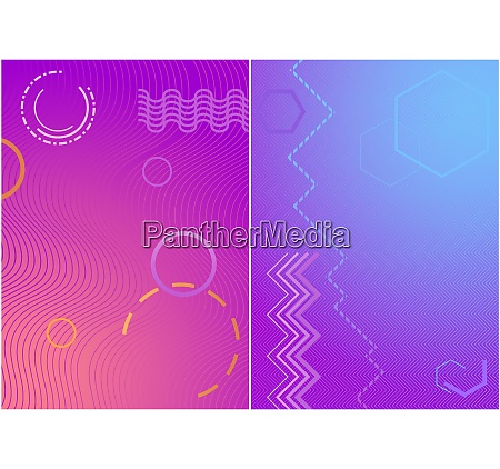 modern colorful covers with geometric colored