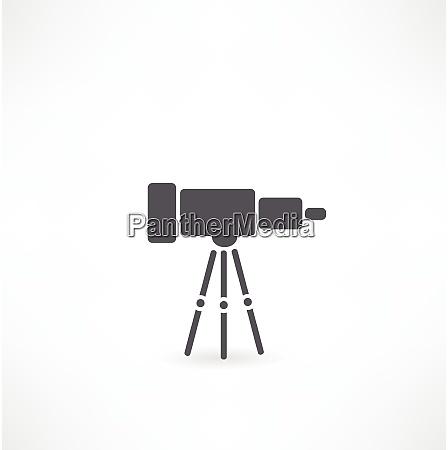 teleskop auf unterstuetzung ueber wite