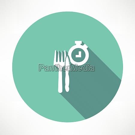 zeit zu essen symbol flache moderne
