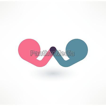 arm runsching symbol konfrontationskonzept logo design