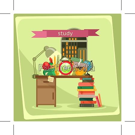 studie vektor illustration