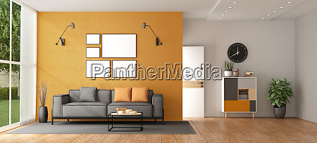 wohnzimmer einer modernen villa