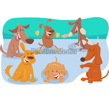 dogs and puppies cute cartoon characters