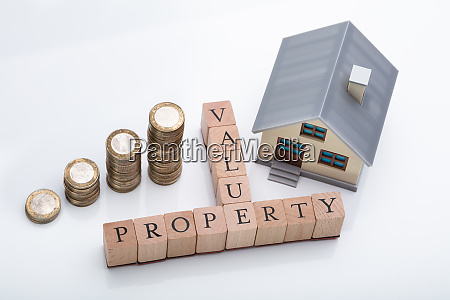 property value text with house model
