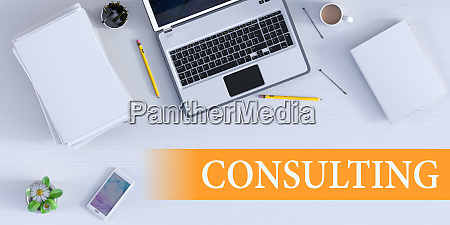 consulting solution online als business concept