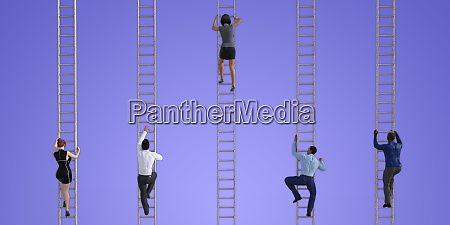business, people, climbing, ladders - 26625846