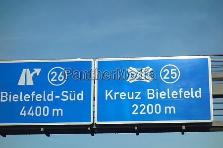 bundesautobahn bielefeld sued kreuz bielefeld
