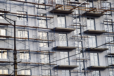 construction of a multistorey residential building