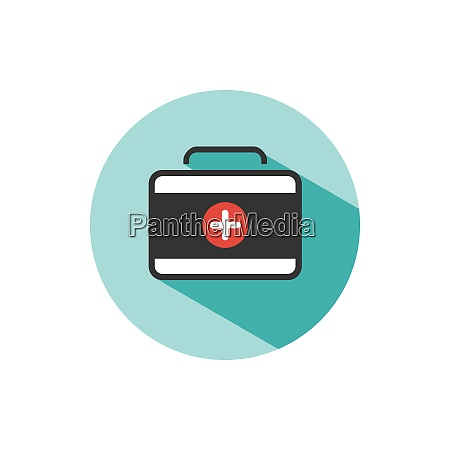 medicine briefcase color icon with shadow