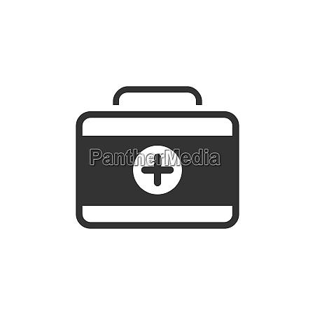 medicine briefcase icon isolated vector illustration