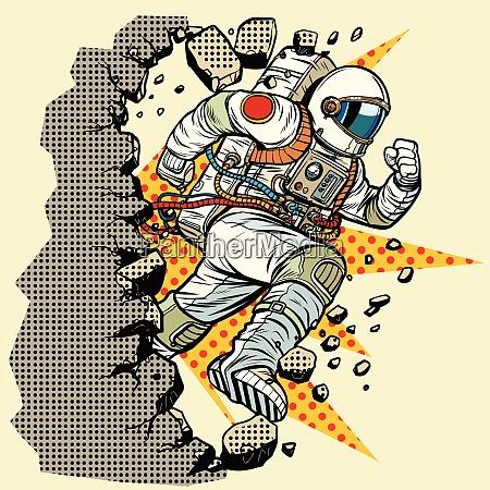 astronaut breaks the wall