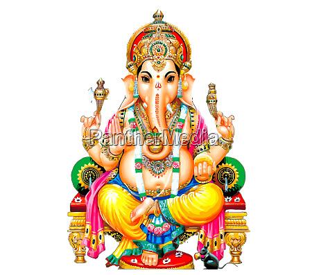 seated ganesha hindu lord faith