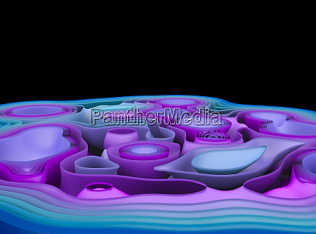 abstract geometric background with curved lines
