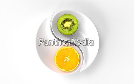 ausgewogene gesundheit yin yang