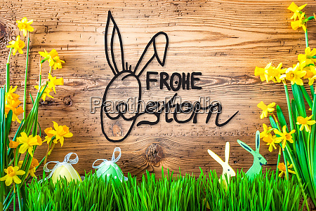 easter decoration spring flower calligraphy frohe
