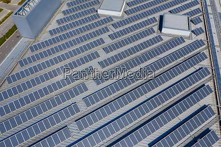 solar panel from the top