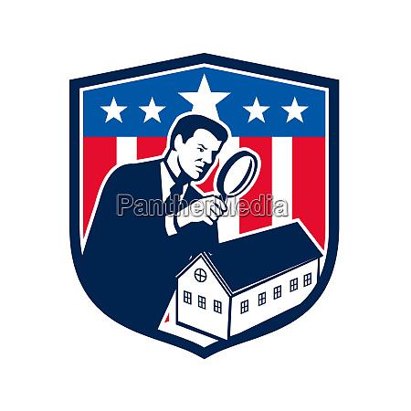 american school inspector usa flag