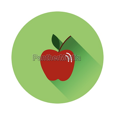 flat design icon of apple