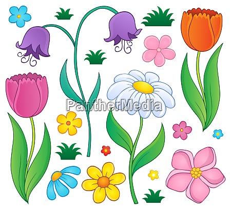 fruehlingsblumen thematisch satz 4