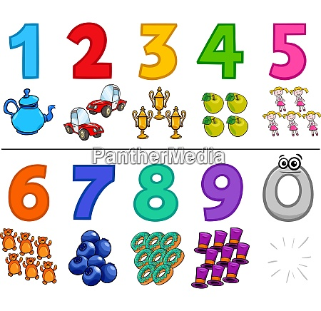 educational cartoon numbers collection
