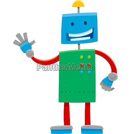 funny robot or droid cartoon character