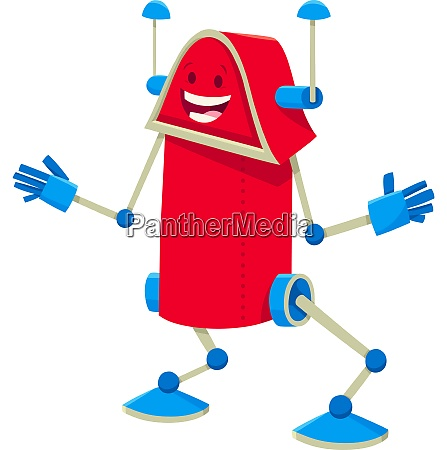 funny robot cartoon comic character