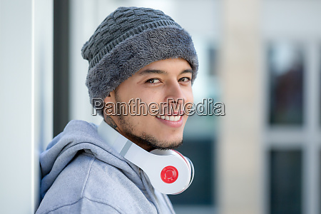 sports training young latin man winter