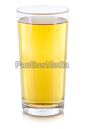 apple juice drink glass isolated on