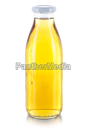 apple juice drink bottle isolated on