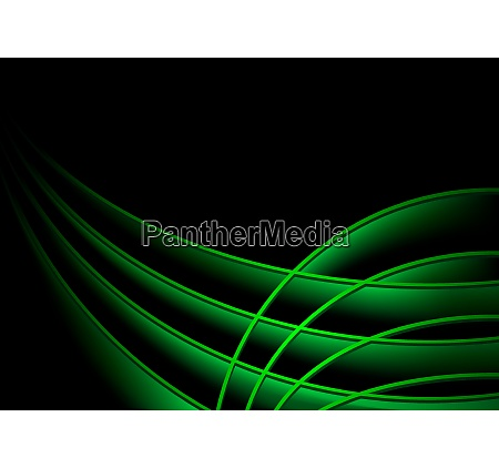 abstract background with green swooshes