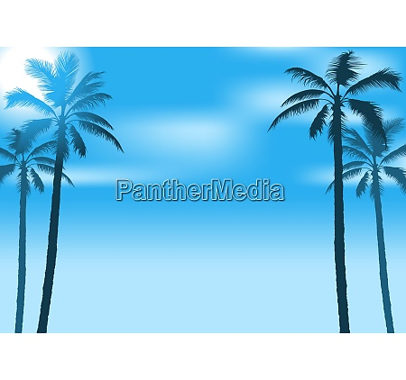 summer party background with palms