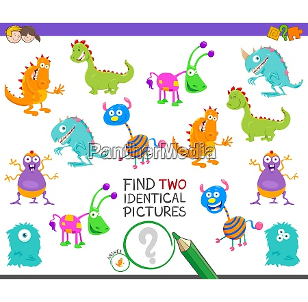 find two identical monsters task for