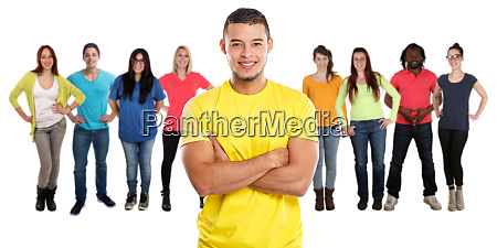 group of friends young people isolated