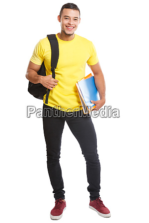 student young man full body portrait